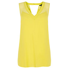 Buy Warehouse Chiffon Mix Vest, Bright Yellow Online at johnlewis.com