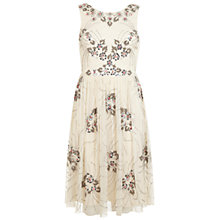 Buy Miss Selfridge Embellished Prom Dress, Cream Online at johnlewis.com