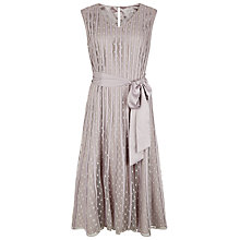 Buy Jacques Vert Banded Spot Flared Dress, Opal Online at johnlewis.com