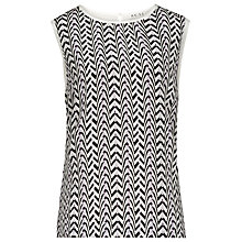 Buy Reiss Kal Print Silk Front Top, Prune Online at johnlewis.com