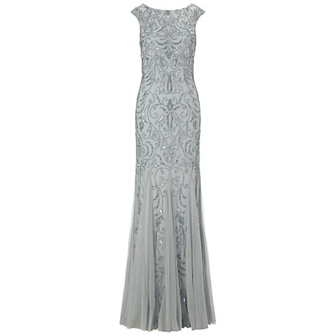 Buy Adrianna Papell Cap Sleeve Beaded Dress, Mist Online at johnlewis.com
