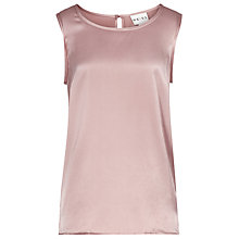 Buy Reiss Constantina Silk Vest, Pink Online at johnlewis.com