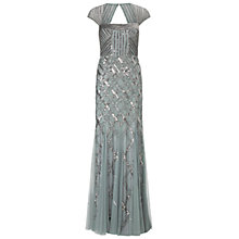 Buy Adrianna Papell Cap Sleeve Beaded Dress, Slate Online at johnlewis.com