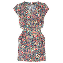 Buy Warehouse Bright Floral Playsuit, Multi Online at johnlewis.com
