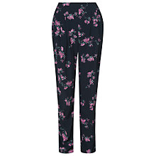 Buy Phase Eight Hamani Print Soft Trousers, Black/Fuchsia Online at johnlewis.com