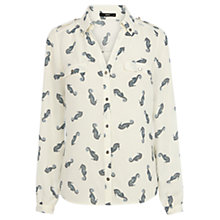 Buy Oasis Sea Horse Print Shirt, Multi Online at johnlewis.com