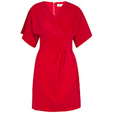 Buy Closet Cross Over Tie Back Kimono Dress, Pink Online at johnlewis.com