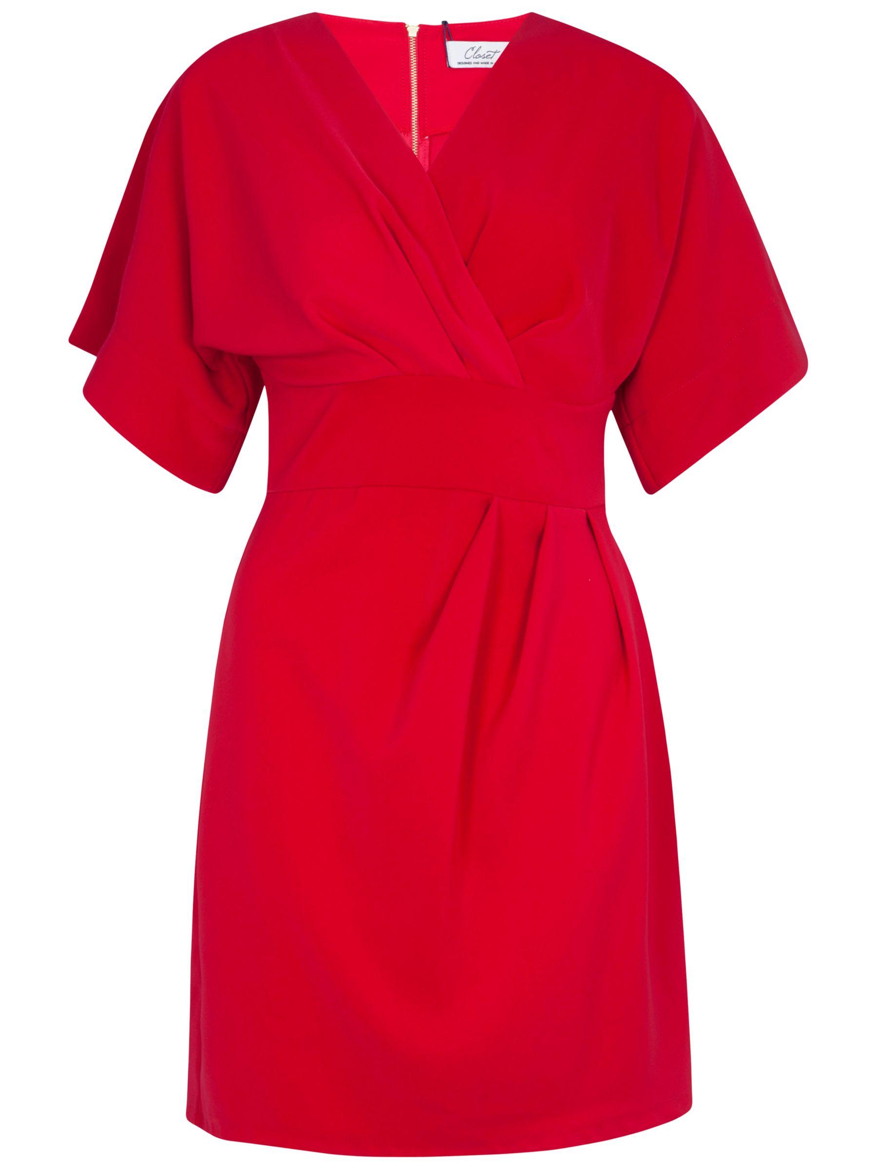 closet cross over tie back kimono dress pink, closet, cross, tie, back, kimono, dress, pink, 12|14|16|8|10, women, womens dresses, 1537142