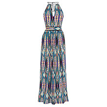 Buy Warehouse Linea Aztec Maxi Dress, Blue/Multi Online at johnlewis.com