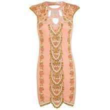 Buy Miss Selfridge Embellished Cut Out Dress, Pink Online at johnlewis.com