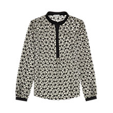 Buy Reiss Flower Technique Shirt, Black/White Online at johnlewis.com