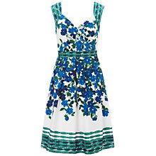 Buy Adrianna Papell Wrap Flower Dot Dress, Blue/Multi Online at johnlewis.com