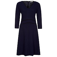 Buy Kaliko Ponte Panel Skater Dress, Indigo Online at johnlewis.com