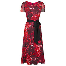 Buy Jacques Vert Hydrangea Print Soft Prom Dress, Multi Pink Online at johnlewis.com