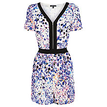 Buy Warehouse Dapple Print Playsuit, Multi Online at johnlewis.com
