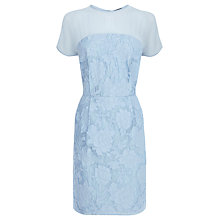 Buy Warehouse Jacquard T-Shirt Dress, Blue Online at johnlewis.com
