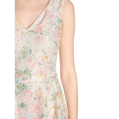 Buy Warehouse Printed Bonded Lace Dress, Multi Online at johnlewis.com
