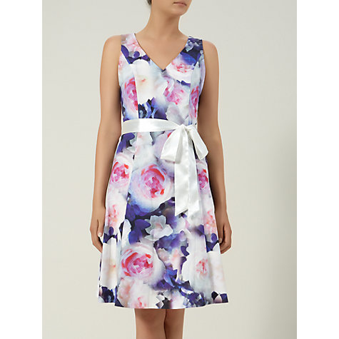 Buy Kaliko Floral Print Prom Dress, Multi/Blue Online at johnlewis.com