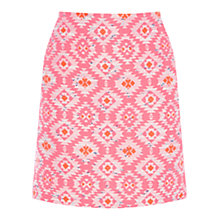 Buy Warehouse Neon Aztec Skirt, Pink Online at johnlewis.com
