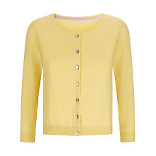 Buy Havren Cropped Crew Neck Cardigan, Lemon Online at johnlewis.com