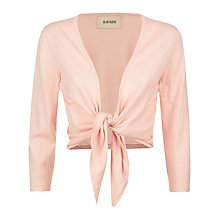 Buy Havren Tie Front Cardigan, Foundation Pink Online at johnlewis.com