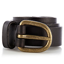Buy Warehouse Vintage Jeans Belt, Black Online at johnlewis.com