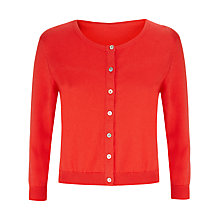 Buy Havren Cropped Crew Neck Cardigan, Clementine Online at johnlewis.com
