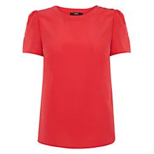 Buy Oasis Casual Grosgrain Back T-Shirt Online at johnlewis.com