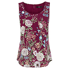 Buy Oasis Lotus Placement Vest, Burgundy Online at johnlewis.com