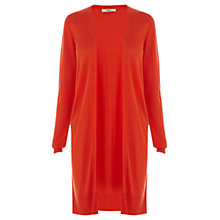 Buy Oasis Edge To Edge Cardigan, Bright Orange Online at johnlewis.com