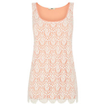 Buy Oasis Crochet Lace Vest, Coral Online at johnlewis.com