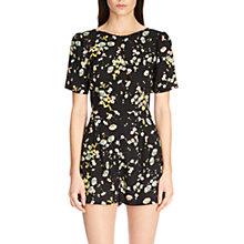 Buy Warehouse Floral Cross Back Playsuit, Black/Multi Online at johnlewis.com
