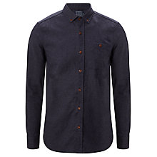 Buy JOHN LEWIS & CO. Recycled Flannel Shirt, Navy Online at johnlewis.com
