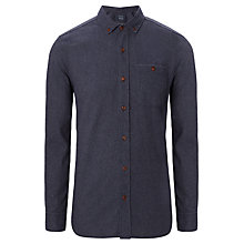 Buy JOHN LEWIS & Co. Recycled Textured Long Sleeve Shirt, Navy Online at johnlewis.com