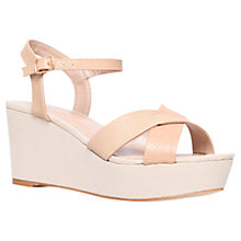 Buy Carvela Summer Mid Heel Platform Sandals, Nude Online at johnlewis.com