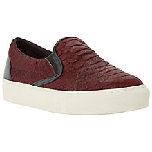 Buy Dune Lutney Textured Slip on Vulcanised Toe Shoes, Red Online at johnlewis.com