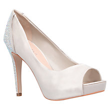 Buy Carvela Juliette Encrusted High Heel Peep Toe Shoes, Nude Online at johnlewis.com