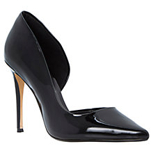 Buy Dune Cerina Pointed Court Shoes, Black Patent Online at johnlewis.com
