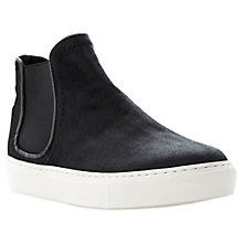 Buy Dune Ponie Hi-Top Vulcanised Sole Trainers, Pony Black Online at johnlewis.com