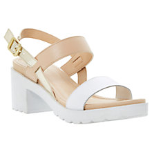 Buy Dune Fibie Sporty Block Heel Leather Sandals Online at johnlewis.com