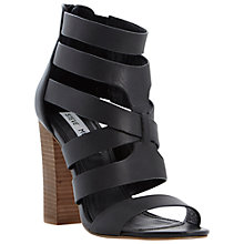 Buy Steve Madden Cruizz Leather Block Heel Cut Out Shoe Boots Online at johnlewis.com