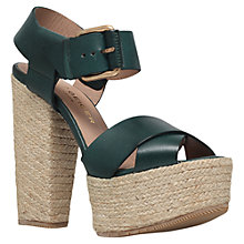 Buy Kurt Geiger Willow High Heel Leather Sandals, Green Online at johnlewis.com