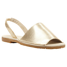 Buy Jolana Two Part Slingback Flat Sandals, Champagne Online at johnlewis.com