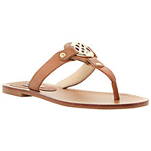 Buy Dune Jingly Toe Post Flat Leather Sandals Online at johnlewis.com