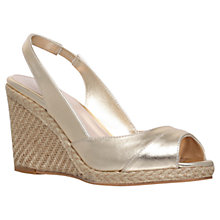 Buy Carvela Susan High Heel Espadrille Wedges, Gold Online at johnlewis.com