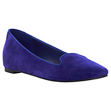 Buy Dune Luiza Suede Slip On Flat Shoes, Blue Online at johnlewis.com