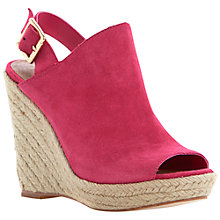 Buy Steve Madden Corizon Suede High Wedged Sandals, Pink Online at johnlewis.com