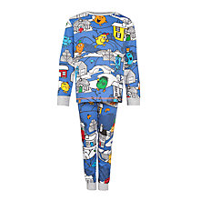 Buy Mr Men Print Pyjamas, Blue/Multi Online at johnlewis.com