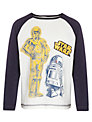 Star Wars Long Sleeve Baseball Top, Black/White