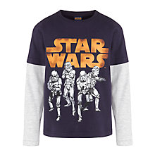 Buy Star Wars T-Shirt, Blue/Grey Online at johnlewis.com
